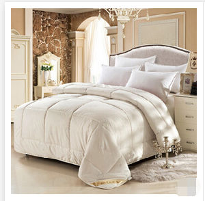 100% Cotton Cover White Duck Down Quilt (T128) pictures & photos