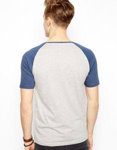 Custom Mens Cotton Baseball Raglan Sleeve T Shirts pictures & photos