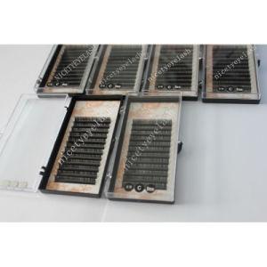 Synthetic Mink Lashes Flat Base Individual Eyelash Extensions Tray Cashmere Volume Lashes Nhe004