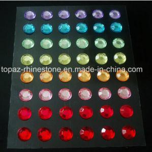 Self Stick Round Stone Acrylic Rhinestone Gem Sticker pictures & photos