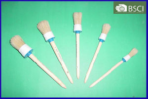 528W White Bristle Round Brush with Wooden Handle pictures & photos