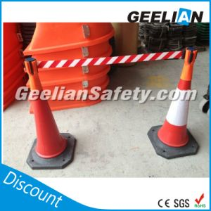 5m-High Quality Tensabarrier, Cone Mount Retractable Belt Barrier pictures & photos