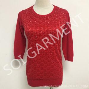 New Diamond Half Sleeves Style Women Clothes/Sweater (SOITSW-08)