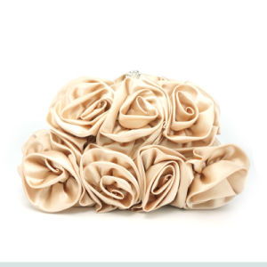High Quality Ladies Party Handbag Evening Bags Clutch Bags Silk Flower Bag pictures & photos