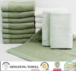Hot Selling Solid Color Satin Series Plain Weaving 100% Bamboo Towels for Bath Df-N126 pictures & photos