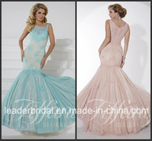 Pink Blue Party Prom Gown Vestidos Lace Evening Dress P16100 pictures & photos