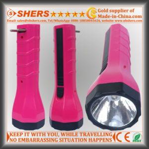 Rechargeable 1W LED Torch with Built-in Adapter for Searching (SH-1938) pictures & photos