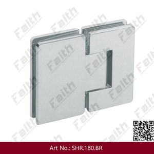 180 Degree Frameless Glass Shower Door Hinge (SHR. 180. BR) pictures & photos
