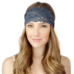 New Style 2017 Women Headwrap Fashion Lace Wide Hot Sale Female Casual Headpiece Headwear Bohemian Headwrap Apparel Accessories