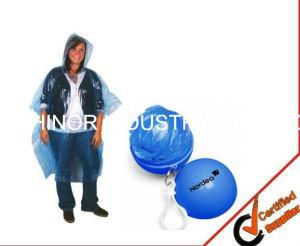 Custom Printed PE Rain Poncho, Full Color Printing Rain Poncho for Promotion pictures & photos