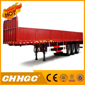 Chhgc 3axle Cargo/Fence Flat Type Semi-Trailer pictures & photos