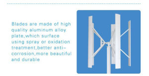 Maglev Vertical 10kw Wind Generator Turbine for Home Use pictures & photos