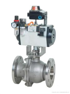 Pneumatic Control Ball Valve with Pneumatic Limit Switch Solenoid Valve pictures & photos