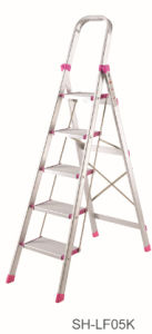 Step Stool Foldable Aluminum Ladder (SH-LF05K) pictures & photos