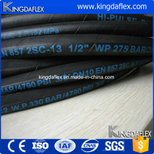 Flexible High Pressure Steel Wire Reinforced Industrial Hydraulic Rubber Oil Hose (EN857 1SC) pictures & photos