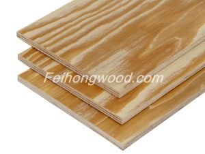 Brush Embossed Radiata Pine Plywood for Korean Market pictures & photos
