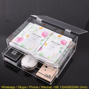 Clear One Drawer Acrylic Makeup/Cosmetic Box pictures & photos