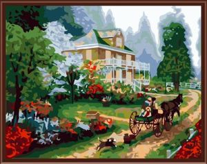 SGS CE Yiwu Manufactor Hand Painted Fashion Oil Painting by Number for House Decoration Gx6171