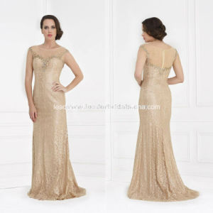 Champagne Beading Sheath Mother of The Bride Dress B49 pictures & photos