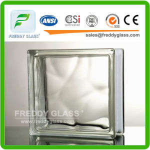 190*190*80mm Clear Cloudy Glass Block pictures & photos