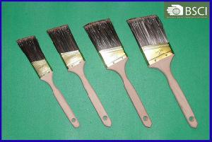Pet Filament Beavertail Plain Wooden Handle Paint Brush pictures & photos