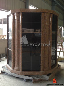 72 Niche Maple Red Granite Columbarium with Shanxi Black Doors pictures & photos