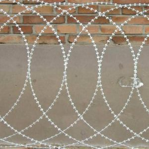 Bto-12 Flat Hot Dipped Galvanized Razor Barbed Wire pictures & photos