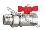 Nickel Plating Reduced Male Butterfly Forged Brass Ball Valve pictures & photos