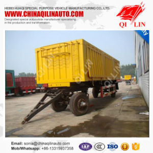 20FT Cargo Sidewall Detachable Truck Towing Full Drawbar Trailer pictures & photos