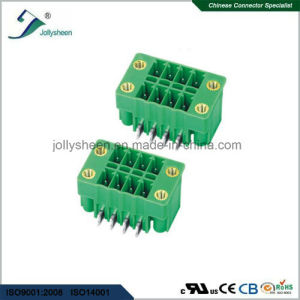Pluggable Terminal Blocks 8pin Dual Rows Right Angle Type pictures & photos