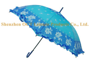 Lady Umbrella with Lace pictures & photos