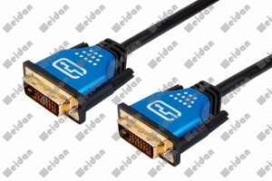 15ft DVI-D Dual Ink (24+1) Pin HDTV DVI Cable pictures & photos
