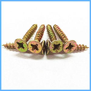 Yellow Zinc Self Tapping Chipboard Screw pictures & photos