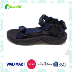 TPR Injected Sole, PU Upper, Men′s Sandals pictures & photos