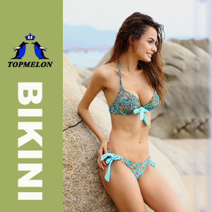 Topmelon New Women′s Bikini Set Push-up Padded Bra Swimsuit Swimwear (T93) a