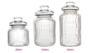 1.3L 1L 0.65L Glass Jar of Glassware Glass Bottle Kitchenware pictures & photos