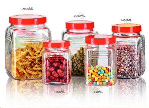750ml Screw Lid Cap Glass Jar Storage Glass Bottle Kitchenware pictures & photos