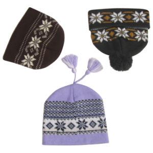 Fashion Lady Jacquard Knitted Hat pictures & photos