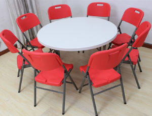 Dining Meeting Banquet Plastic Folding Table (SY-122Y) pictures & photos