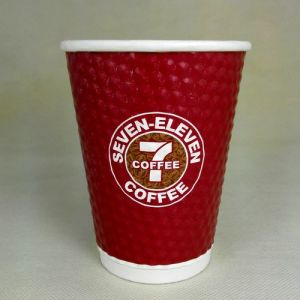 7-11 Embossed Paper Coffee Cups