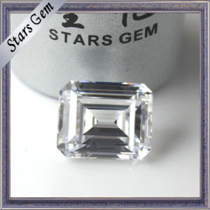 Low Price Special Octagon Emerald Cut Clear White Cubic Zirconia for Jewellery Setting pictures & photos