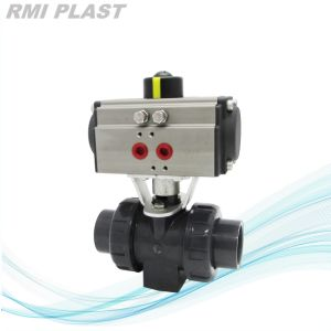 UPVC CPVC PVDF PP Pneumatic Ball Valve pictures & photos