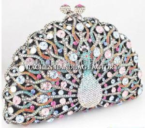 Diamond Pattern Peacock Designer Evening Clutches (C2004)