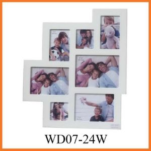 Collage Wooden Picture Frame (WD07-24W) pictures & photos