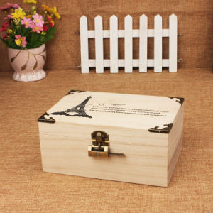 Flip / Clamshell Jewelry / Cosmetic Wooden Case with Lock pictures & photos