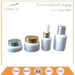 White Ceramic Cosmetic Jars and Bottle with Cap pictures & photos
