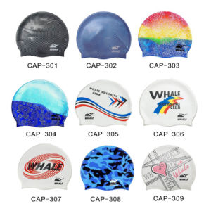 Silicone Waterproof Swimming Caps (CAP-300) pictures & photos