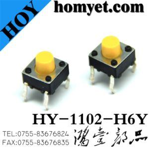 Tact Switch with Yellow Round Handle High Quality (DIP) pictures & photos