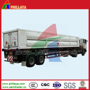 CNG Medium 9-Tube Bundle Jumbo Cylinder Tube Container Skid Trailer pictures & photos
