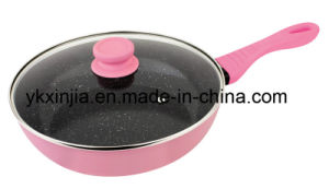 Kitchenware 28cm Aluminum Marble Coating Wok, Forged Cookware pictures & photos